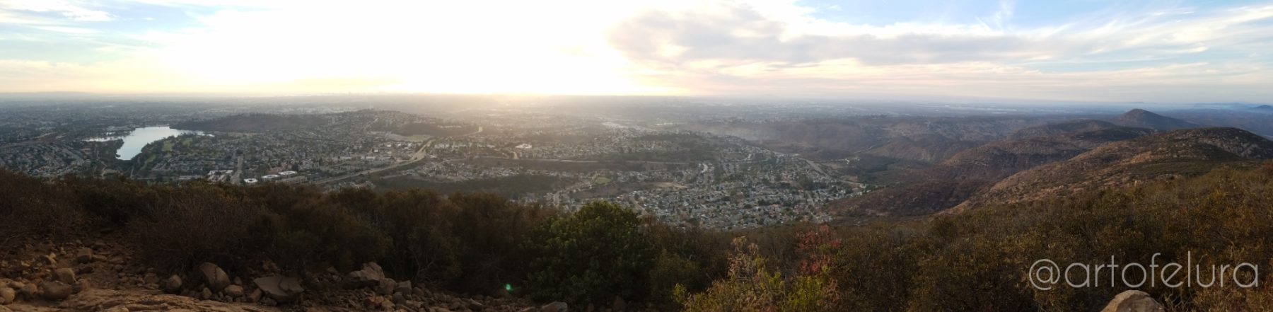 PANORAMA OF SAN DIEGO FROM THE VIEW OF COWELS MOUNTAIN SAN DIEGO