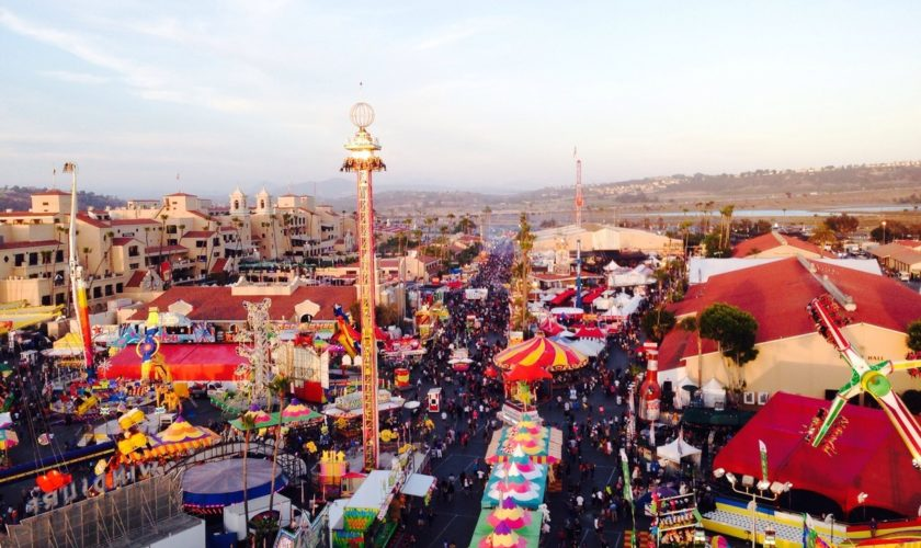 del-mar fair from the top down