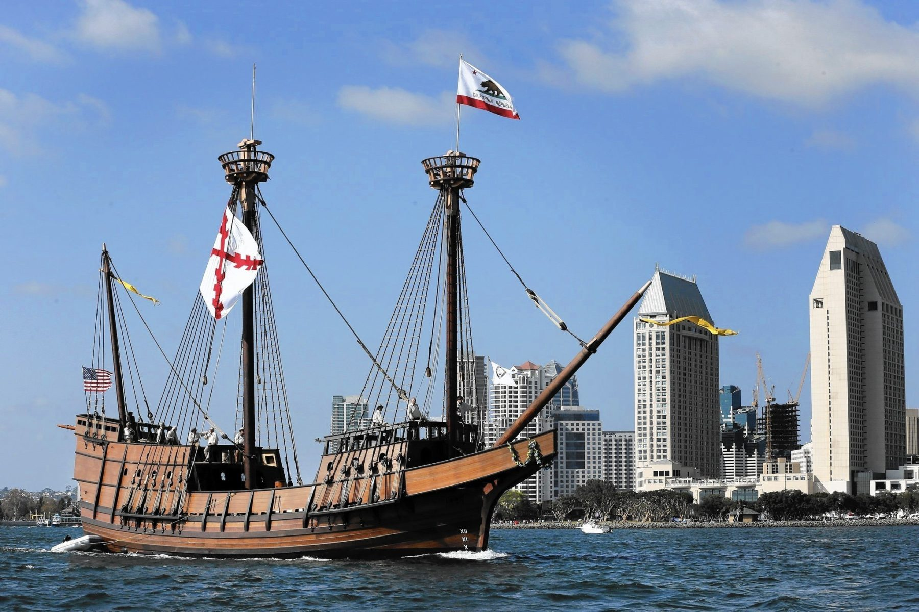 The San Salvadore, Sailing And San Diego