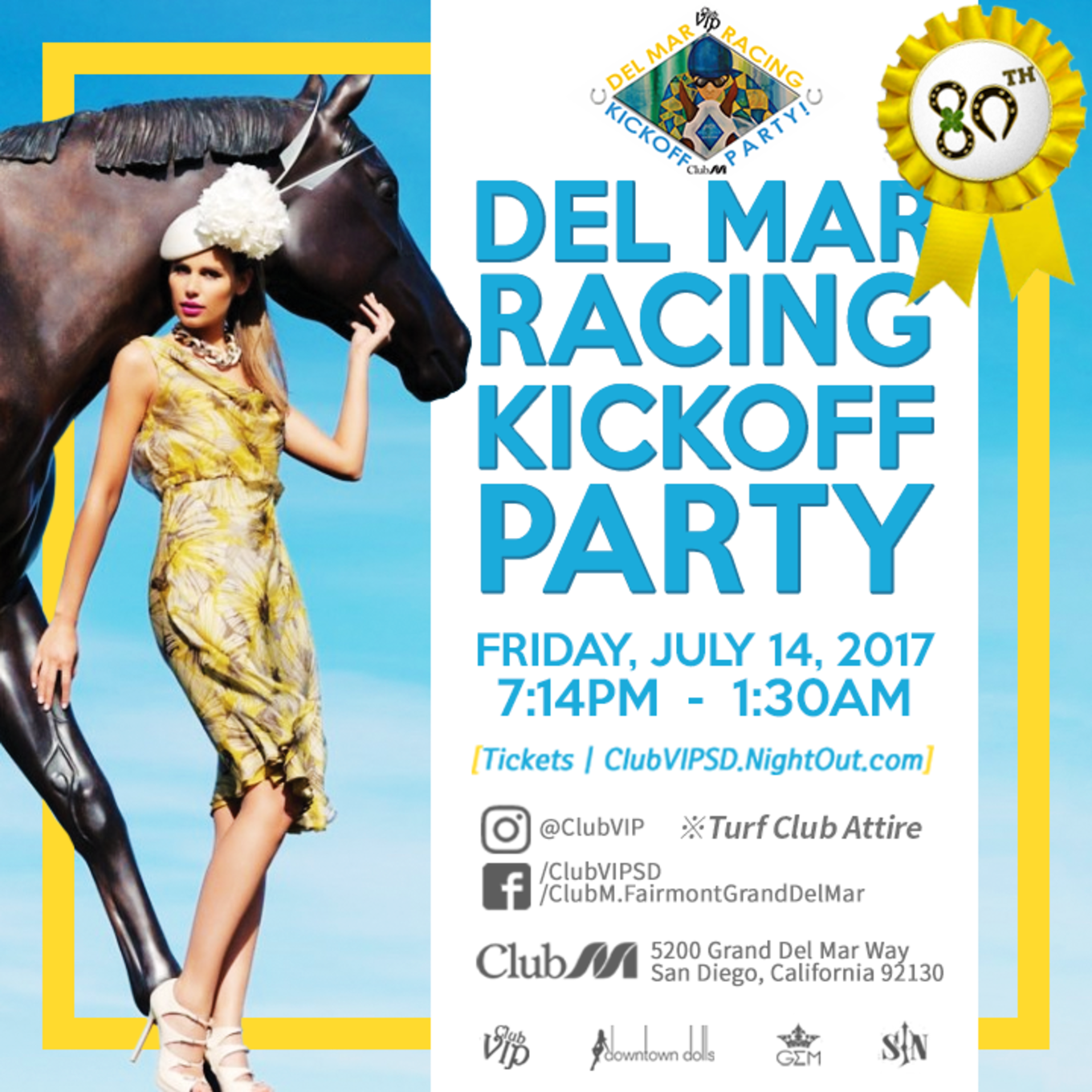 80th Del Mar Racing Kickoff Party