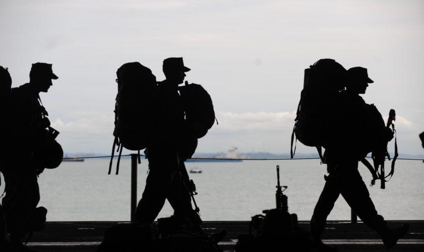 Service Members Walking