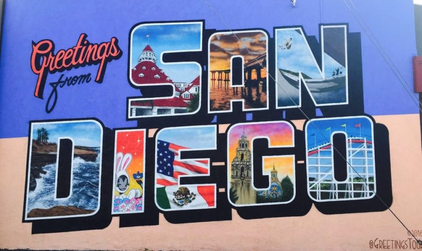 san diego greeting sign