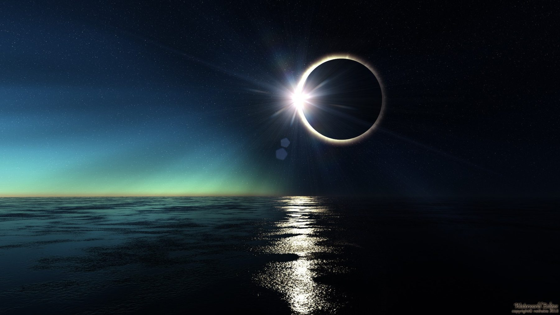 An Eclipse at Sea